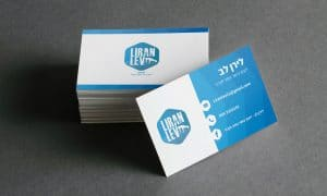עיצוב כרטיס ביקור לירן לב